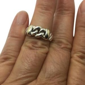 David Yurman sterling silver 18k ring